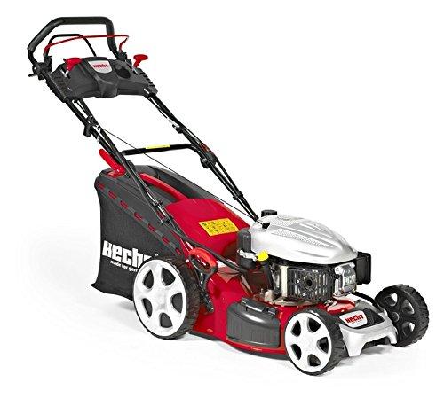 HECHT Benzin-Rasenmäher 5484 SXE Benzin-Mäher mit Elektro-Start Funktion (5 PS Motorleistung, 46 cm Schnittbreite, 7-fache Schnitthöhenverstellung 25-75 mm, 60 L Fangsack)