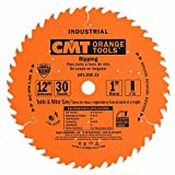 CMT 201.030.12 12' x 30 Tooth FTG, .126 Kerf, 1' Bore Table Saw Ripping Blade