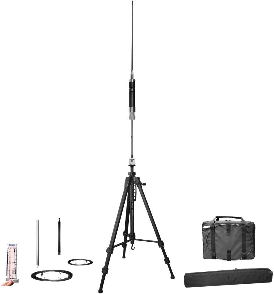 Super Antena MP1LX Trípode HF Portátil Toda Banda Vertical Antena SuperWhip con Go Bags Jamonero Radio Amateur