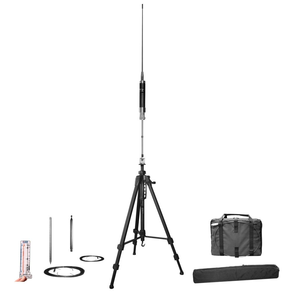 Super Antenna MP1LX Tripod HF Portable All Band Vertical Antenna SuperWhip with Go Bags ham Radio Amateur by Super Antenna