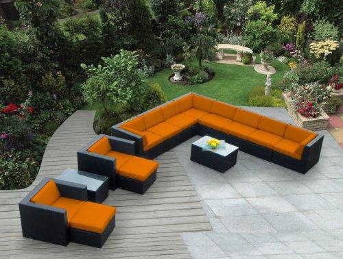Ohana 14-Piece Outdoor Wicker Patio Furniture Sectional C...