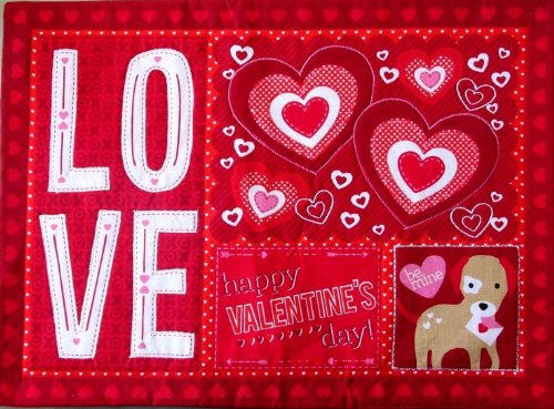 vc-4kplc-set-of-4-valentines-day-share-the-love-placemats-100-cotton-red-white-pink-be-mine