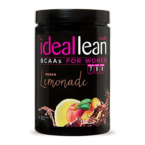 IdealLean BCAA for Women - Amino Acids for Women | Maximize Fat Burn & Lean Muscle Growth | Aids Weight Loss | Post Workout Recovery Drink | 0 Calories, 0 Sugars, 0 Carbs | Peach Lemonade | 12 oz.