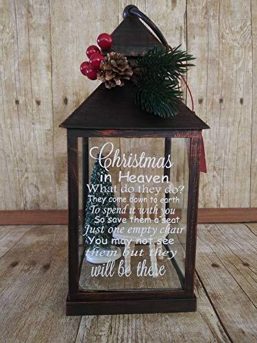Christmas In Heaven Lantern.Empty Chair Christmas Lantern Christmas In Heaven Tea Light Memorial Light