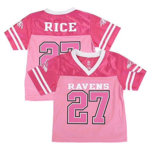- Outerstuff Ray Rice Baltimore Ravens NFL Fashion Pink Replica Jersey Girls Toddler (2T-4T)