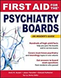 img - for First Aid for the Psychiatry Boards book / textbook / text book