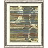 Framed Art Print 'Textured Orbs I' by Jennifer Goldberger