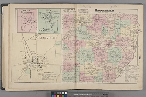 Map Poster   South Brookfield  Village   North Brookfield  Village   Clarkville  Village   North Brookfield Business Notices    Brookf 13  X 19