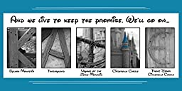Personalized Walt Disney Artwork - Customized with your name or meaningful word and your favorite quote - Walt Disney World Artwork - 10 x 20 - DISNEY images that resemble letters of the alphabet.