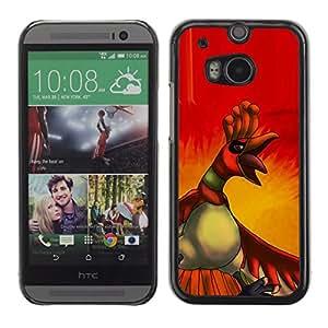 Caucho caso de Shell duro de la cubierta de accesorios de protección BY RAYDREAMMM - HTC One M8 - Angry Duck