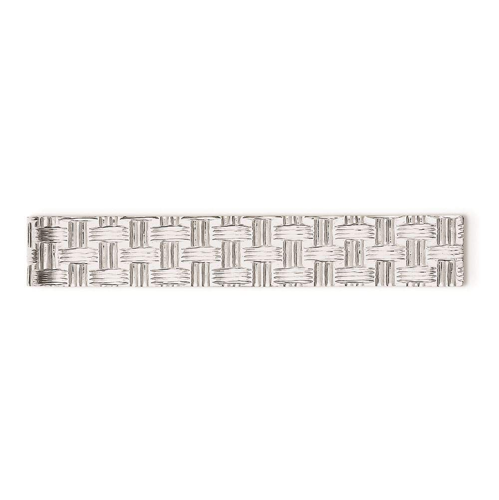 Sterling Silver Textured Tie Bar Clip