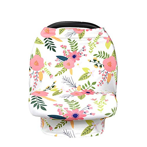 Baby Covers Nursing Cover Scarf Breastfeeding Blanket Multi-Functional Shawls for Women Mum,Flower (Flower 2)