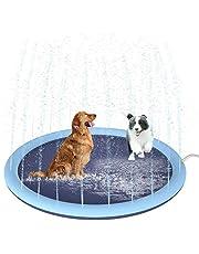 Petyoung 59 Inch Splash Sprinkler Pad Voor Honden Kinderen Verdikt Duurzaam Hondenbad Zwembad Bad Huisdier Zomer Buiten Water Mat Speelgoed Fontein Speelmat