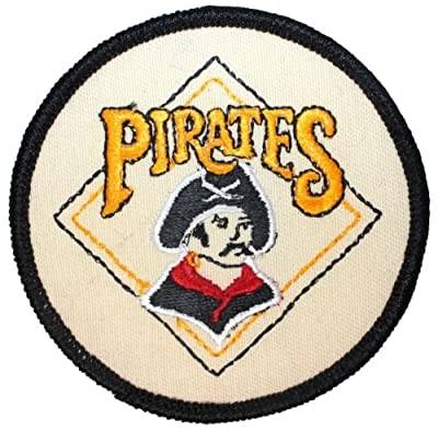 Logo patch embroidered)Pittsburgh Pirates MLB Major League Baseball Pirate Logo Iron On Applique Patch+ E-book with pictures