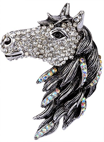 YACQ Angel Jewelry Women's Crystal Big Horse Brooch Pin Pendants (Nautical Charm Pin)