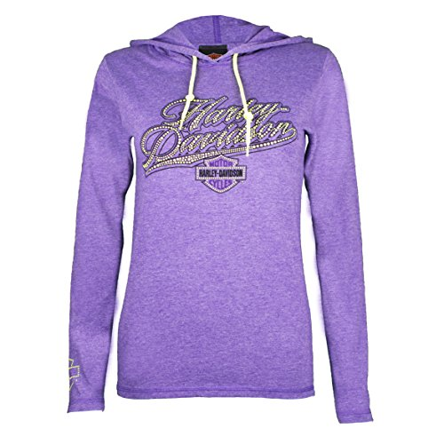 Sturgis Davidson Harley (Sturgis Harley-Davidson Women's Power Ride Long Sleeve Hooded Shirt (Small))