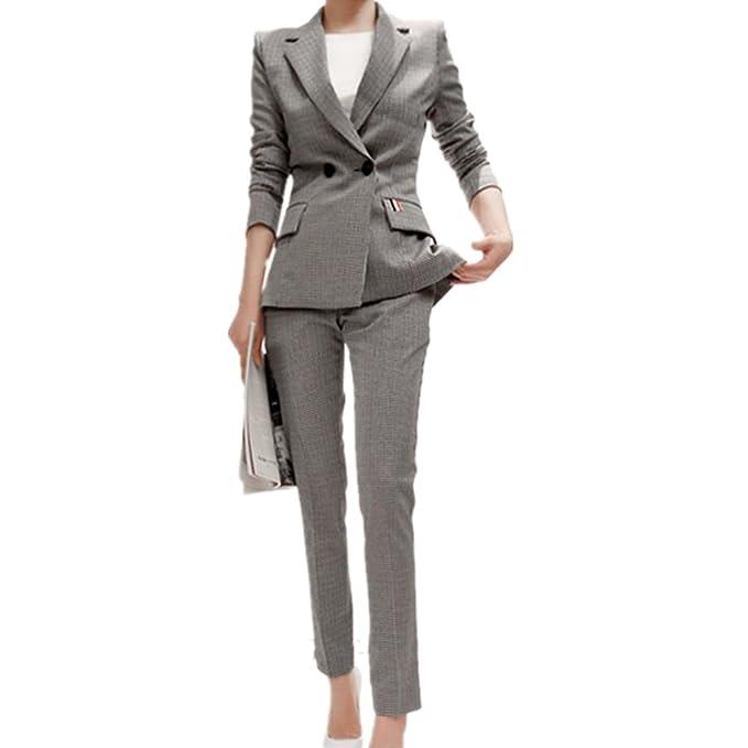 Women s 2 Piece Business Slim Fit Blazer and Pants Suit Set  Amazon ... 556e9874ed