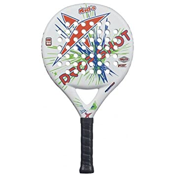 DROP SHOT Kids SF - Pala de pádel, Color Blanco/Naranja / Verde/Azul, 33 mm: Amazon.es: Deportes y aire libre