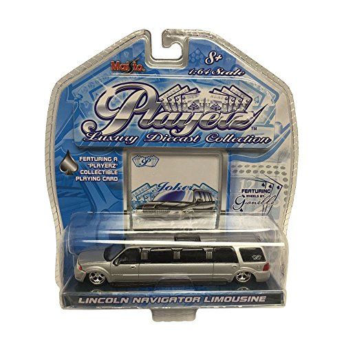 maisto-playerz-luxury-diecast-collection-164-scale-silver-lincoln-navigator-limousine