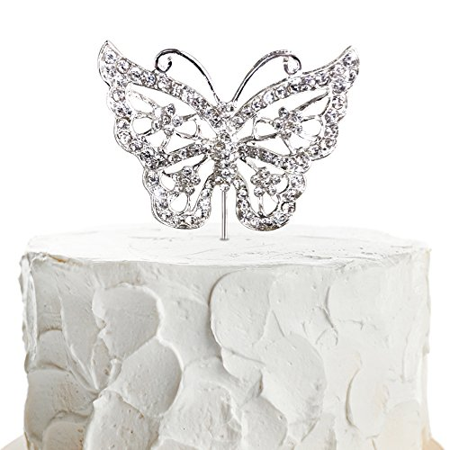 JennyGems - Butterfly Cake Topper - Wedding Cake and Birthday Cake Party Topper - Butterfly Theme - Photo Prop