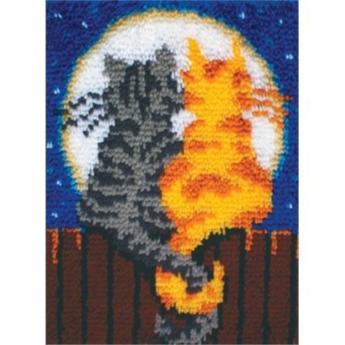 Cat Latch Hook - Wonderart Latch-Hook Kit, Moonlight Meow, 15