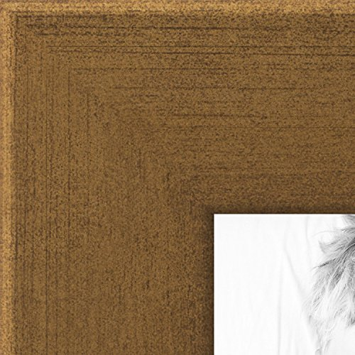 Finished Frame Set (ArtToFrames 12x24 inch Muted Gold Glow Picture Frame, WOMBW26-1619-12x24)