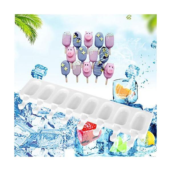 Fditt Stampi a ghiacciolo Stampi a 8 cavità Stampi in Silicone Stampi a Stampo in Silicone Stampo in Silicone con stampi… 7 spesavip