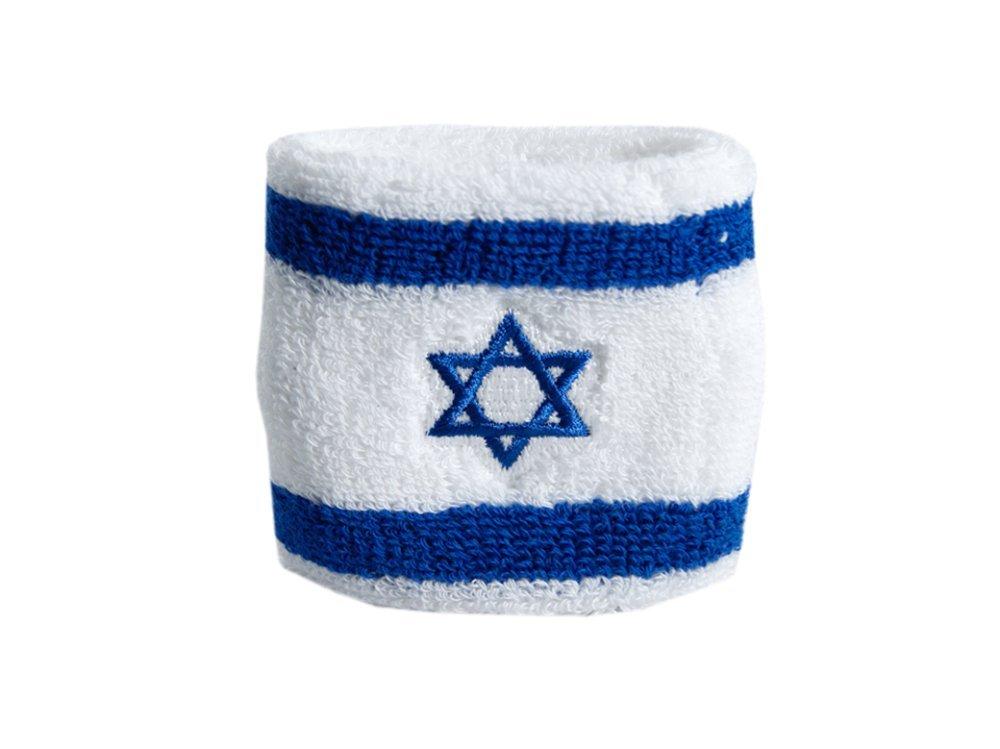gratis Aufkleber Flaggenfritze Schwei/ßband Motiv Fahne//Flagge Israel