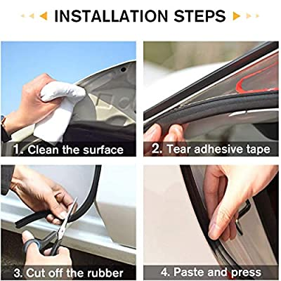 JMgist Automotive Seal Strip Rubber Edge Weatherstrip for Car Window Door Protector Soundproofing Engine Cover Trim B Shape (1-Pack): Automotive