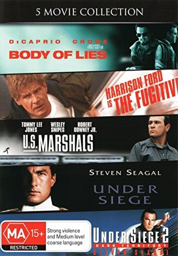 Fugitive / US Marshals / Under Siege 1 & 2 / Body Of Lies | 5 Discs | NON-USA Format | PAL | Region 4 Import - Australia