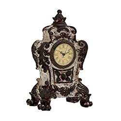 Plutus Brands Antique Styled Designed Ceramic Table Clock