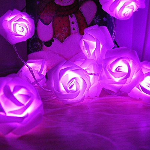 Rose flower indoor fairy lights rusee 20 led wedding decorations rose flower indoor fairy lights rusee 20 led wedding decorations lights for valentines day christmas junglespirit Gallery