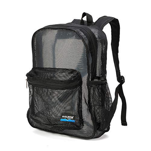 - Mesh Backpack Heavy Duty Student Bookbag Basic School Bag Simple Classic Security Daypack For Elementary Middle High School Kids Boys Girls Men Women Black