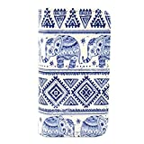 BEST- Eshop Aztec Tribal Elephant Design PU Leather + Silicone Magnetic Flip Wallet Card Case Cover with Stand for Apple iPhone 5 5S , With Credit Cards Slots/ Money Holder