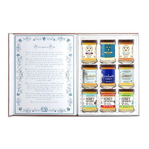 Savannah Bee Company Honey Book Gift Set - Honey Sampler