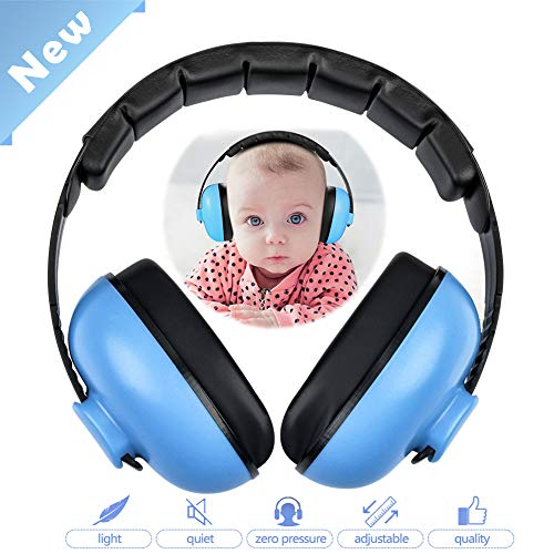 HOODO Baby Ear Protection Earmuffs Noise Cancelling Headphones Hearing Protection Noise Reduction Earmuffs for 0-3 Years Kids Infants (Blue)