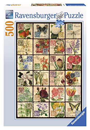 Ravensburger Vintage Flora 500 Piece Jigsaw Puzzle for Adults – Every Piece is Unique, Softclick Technology Means Pieces Fit Together Perfectly from Ravensburger
