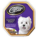 Cesar Canine Cuisine Gourmet Filets in Sauce Grilled Chicken Flavor for Small Dogs, 3.5-Ounce Trays (Pack of 24), My Pet Supplies