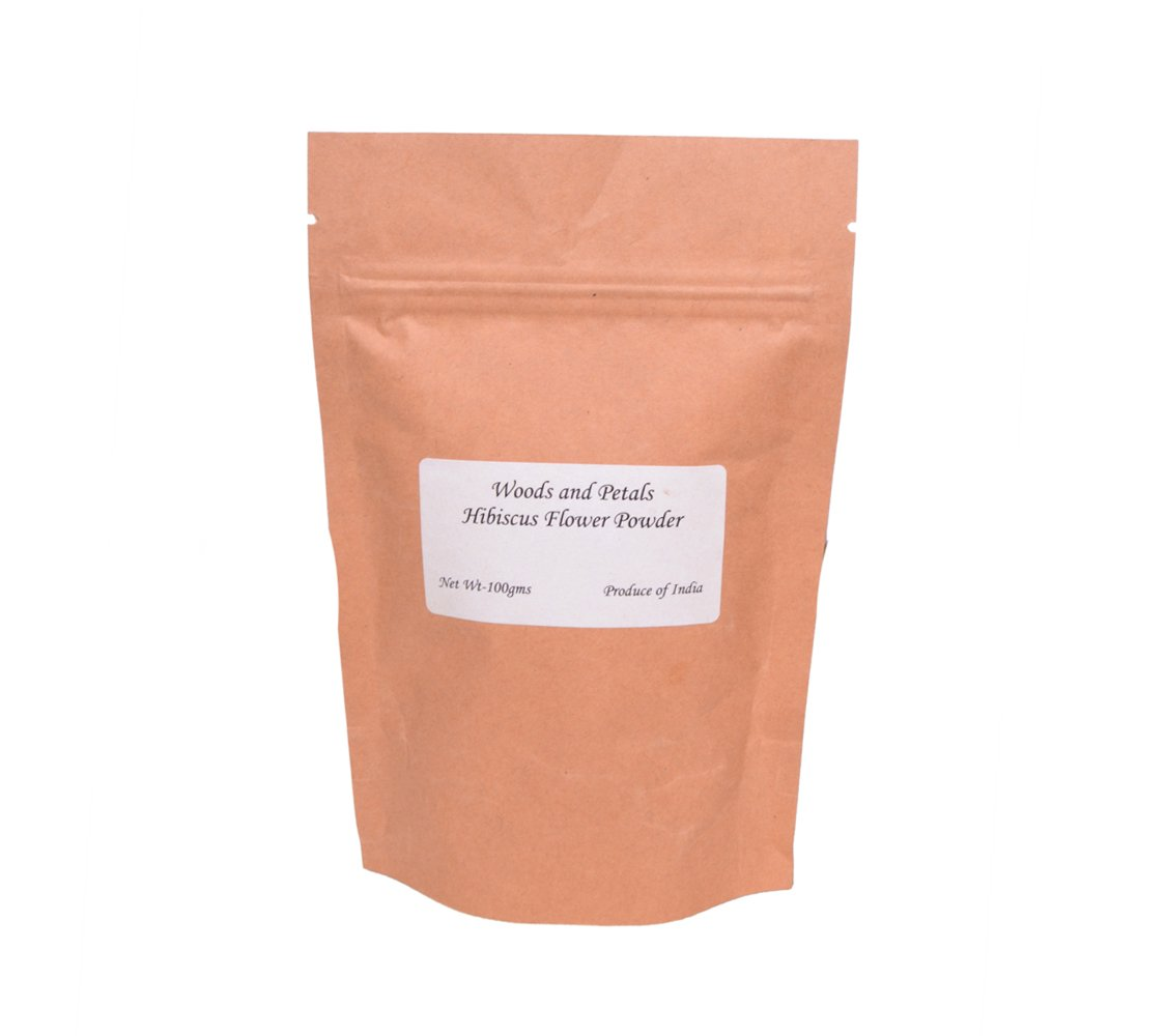 Organic Hibiscus Flower Powder (for hair and skin) woods and petals