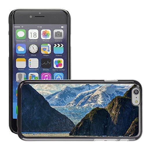 """Hard plastica indietro Case Custodie Cover pelle protettiva Per // M00421580 Chaîne de montagne de Glacier Massive // Apple iPhone 6 6S 6G PLUS 5.5"""""""