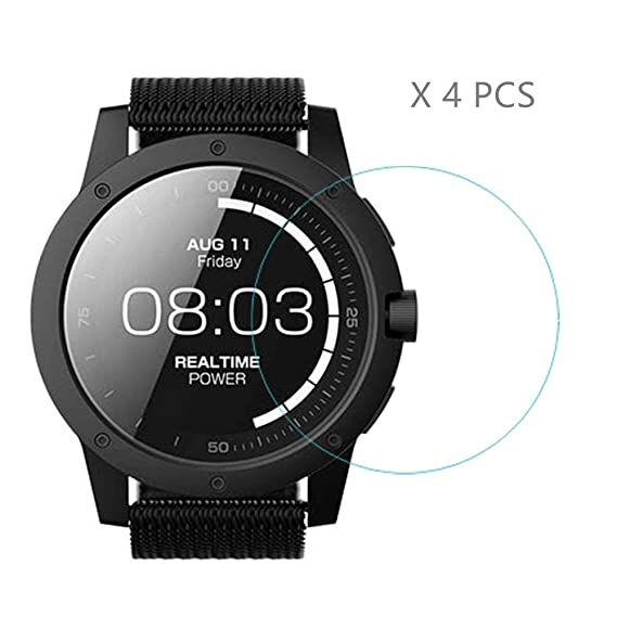 HLH Powerwatch X Screen Protector ,9H Hardness Anti-Scratch Tempered Glass Screen Protector Matrix powerwatch X Smartwatch (4 PCS)