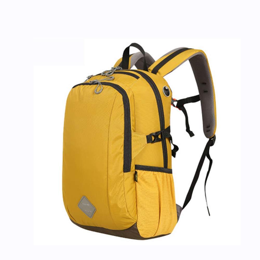 30Lアウトドアスポーツハイキングバックパック、 ナイロン布、 ロッククライミング/旅行、 男性と女性,Yellow B07QXKL5QN Yellow