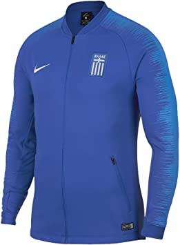 Nike 2018 2019 Greece Anthem Jacket (Blue): : Sport