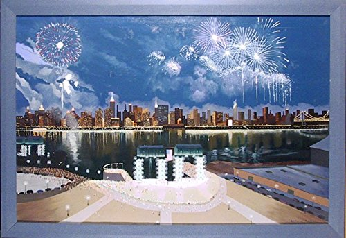 Fourth of July - July 4th canvas wall art - fun trendy 4th July home decor.