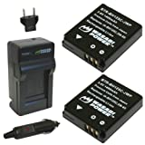 Wasabi Power Battery (2-Pack) and Charger for Ricoh DB-65 and Ricoh G700, G700SE, G600, GR, GR Digital, GR Digital II, GR Digital III, GR Digital IV, GX100, GX200, Caplio R3, R4, R5, R30