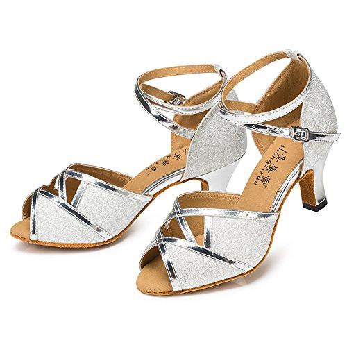 Argent Flash Samba De Mariage Lady Or Chaussures Latin Danse Jazz 6cm Mode SH4WqwA