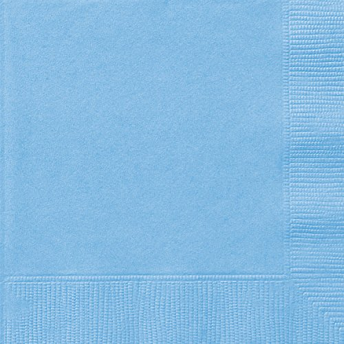 Light Blue Beverage Napkins 20ct product image