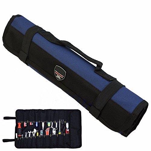 Techinal Hot Hardware Tool Roll Plier Screwdriver Spanner Carry Case Tool Pouch Bag - 22 Pockets by Techinal