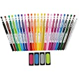 2 Set XPilot FriXion Erasable Gel Ink Pens, 0.7mm, Assorted Colors, 24/Pack with Frixion Erasers