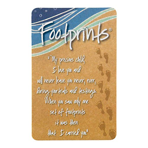 Footprints In The Sand Sandy Brown Paper 4 x 2.5 Inches Bookmark Set of 12]()